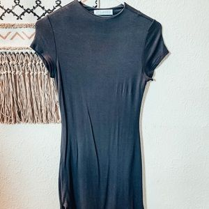 Structured Form Fitting T-shirt Dress